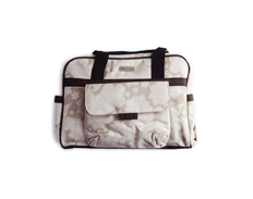 Bebe Chic Diaper Bag BEIGE FLORAL TOTE FEATURED
