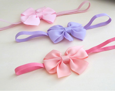 Classic Grosgrain Bows PEARL PINK LILAC PEACH FEATURED