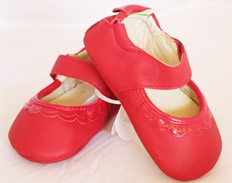 Frilly TOMATO PATENT RED FEATURED