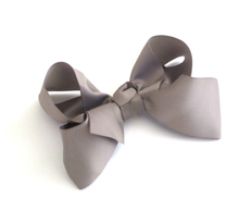 Large Boutique Bows SILVER FEATURED