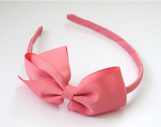 Large Signature Bow Headband FANTASY ROSE FEATURED