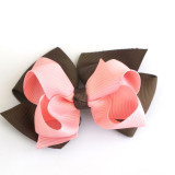 Two Tone Boutique Bows CHOCO PEARL PINK