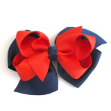 Two Tone Boutique Bows NAVY RED