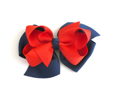 Two Tone Boutique Bows NAVY RED FEATURED