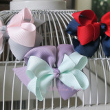 Two Tone Boutique Bows SILVER ICY PINK LILAC MINT NAVY RED
