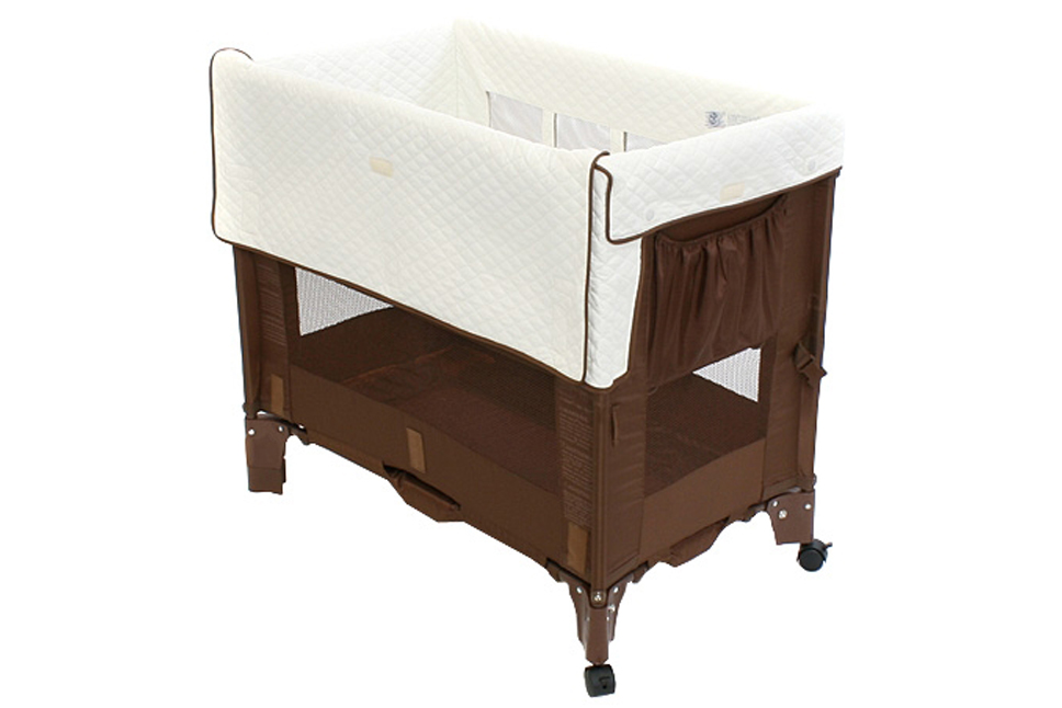 Arm Reach Co Sleeper Mini Cocoa Natural Baby And Beyond