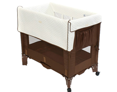 Arm Reach Co-Sleeper MINI COCOA NATURAL FEATURED