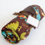 Blanket DINO DUDES BROWN