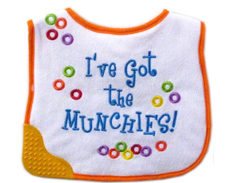 Blue Jacket LUVABLE FRIENDS TEETHER BIB MUNCHIES FEATURED