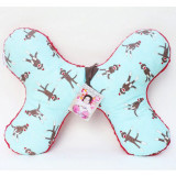 Butterfly Pillow BLUE SOCK MONKEY