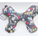 Butterfly Pillow GREY GIRAFFE GARDEN