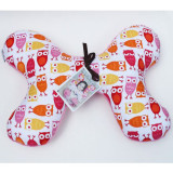 Butterfly Pillow PINK OWLS