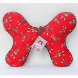Butterfly Pillow RED SOCK MONKEY