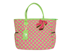 MyDoodles DB PINK WGREEN POLKA DOTS FEATURED