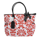 MyDoodles DB RED DAMASK WBLACK