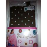 Next9 Nursing Cover WHITE DOTTY ON BROWN