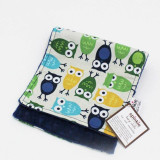 Spinkie Essential Burp Cloth BLUE OWLS