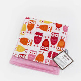 Spinkie Essential Burp Cloth PINK OWL