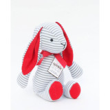 The Bitbit Rabbit GREY STRIPES AND RED