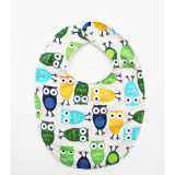 The Essential Bib in BLUE OWLS