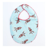 The Essential Bib in BLUE SOCK MONKEY
