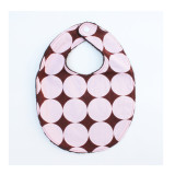 The Essential Bib in PINK DISCO DOT