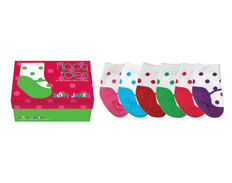 Tippy Toes DOTTY JANES 0-12 MOS 6 PAIRS FEATURED