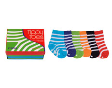 Tippy Toes STRIPES 0-12 6PAIRS FEATURED