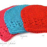 Celestina Crochet Beanie HOT PINK TURQUOISE RED