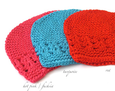 Celestina Crochet Beanie HOT PINK TURQUOISE RED FEATURED
