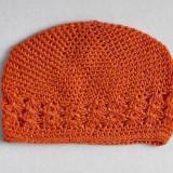 Celestina Crochet Beanie ORANGE