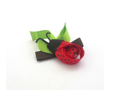Celestina Sculpture Bows Garden LADYBUG ON LEAF FEATURED