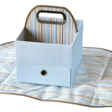 JJ Cole Diaper & Wipes Caddy BLUE STRIPES
