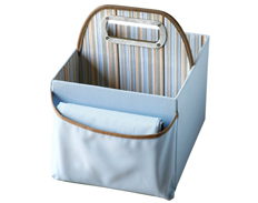 JJ Cole Diaper & Wipes Caddy BLUE STRIPES FEATURED