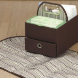 JJ Cole Diaper & Wipes Caddy COCOA STRIPES