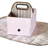 JJ Cole Diaper & Wipes Caddy PINK STRIPE