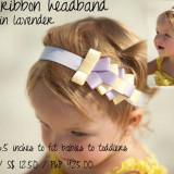 Spinkie Lovely Ribbon Headband LAVENDER