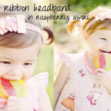 Spinkie Lovely Ribbon Headband RASPBERRY SWIRL