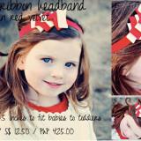Spinkie Lovely Ribbon Headband RED VELVET