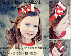 Spinkie Lovely Ribbon Headband RED VELVET FEATURED