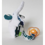 Spinkie Pacifier Clip BLUE ELEPHANT