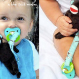 Spinkie Pacifier Clip BLUE MONKEY