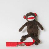 Spinkie Pacifier Clip RED SOCK MONKEY