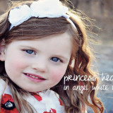Spinkie Princess Headband ANGEL WHITE W TULLE
