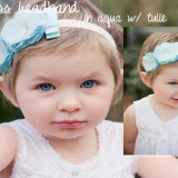 Spinkie Princess Headband AQUA W TULLE