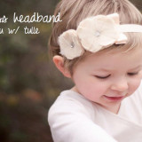 Spinkie Princess Headband ECRU W TULLE