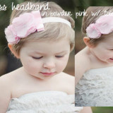 Spinkie Princess Headband POWDER PINK W TULLE