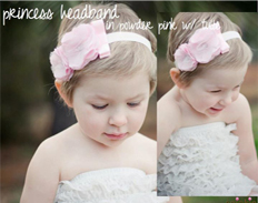 Spinkie Princess Headband POWDER PINK W TULLE FEATURED